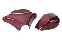 Willie & Max Gloss Black Hard Sided Saddlebags and Mount Kit