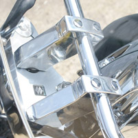 Rivco Polished Aluminum Risers and Caps for Suzuki C50