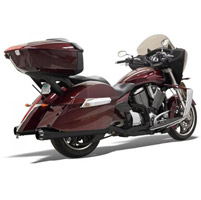 Bassani Black Ceramic Road Rage 2-into-1 Exhaust with B1-Style Quick-Change End Cap