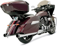 Bassani 4″ Chrome Straight Slip-on Mufflers for Victory Models