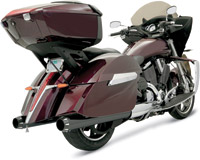 Bassani 4″ Black Ceramic Straight Slip-on Mufflers for Victory Models