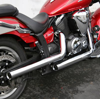 Jardine Rumblers 2-into-2 Straight-cut Short Classic Chrome Drag Pipes