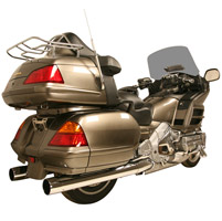 Rush Chrome 2-1/4″ Slip-on Mufflers for GL1800 Gold Wing