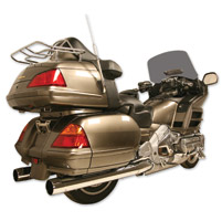 Rush Chrome 2-1/2″ Slip-on Mufflers for GL1800 Gold Wing