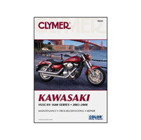 Clymer Kawasaki Vulcan 1600 Series Manual, 2003-08