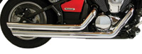 Rush Chrome Slash Down Slip-ons Mufflers for Yamaha Models