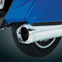 Show Chrome Accessories Die Cast Scalloped Exhaust Tip Extensions