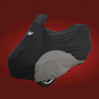 UltraGard Black/Charcoal Motorcycle Cover