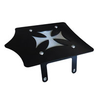 BDD Custom Black Cross Luggage Rack for Victory