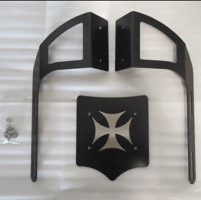 BDD Custom Black Cross Luggage Rack for 2-Up Seats