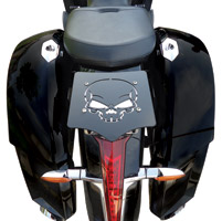 BDD Custom Black Skull Luggage Rack for Victory