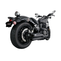 Vance & Hines Black Twin Slash Staggered 2-into-2 Exhaust System