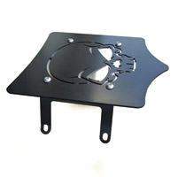 BDD Custom Black Skull Luggage Rack for Solo Seats