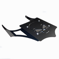 BDD Custom Black Skull Luggage Rack for 2-Up Seats