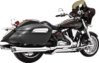 Freedom Performance Exhaust Racing Dual Exhaust with 4″ Mufflers Chrome with Chrome Tips