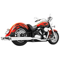Freedom Performance Exhaust Dual System with 4″ Mufflers Chrome with Chrome Tips