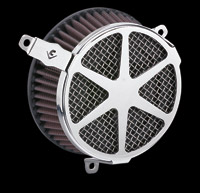Cobra PowrFlo Air Cleaner Kit Chrome Spoke