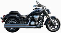 Rush Racing 2:2 Chrome Exhaust System w/ Chrome Slash Cut Tips