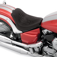 Drag Specialties Low-profile Flame Stitched Solo Seat
