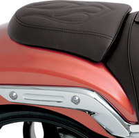 Drag Specialties Low-profile Flame Stitched Passenger Pad
