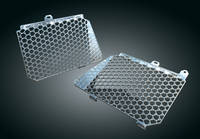 Kuryakyn Chrome Shark Skin Radiator Grat