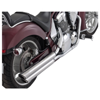Vance & Hines Twin Slash 3? Round Slip Ons Chrome