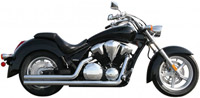 Rush Racing 2:2 Chrome Exhaust System w/ Chrome Straight Tips