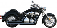 Rush Racing 2:2 Black Exhaust System w/ Chrome Straight Tips