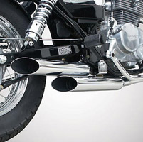 Jardine Rumblers Complete Slash-cut Chrome Exhaust for CMX250 Rebel