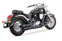 Vance & Hines Twin Slash Staggered Exhaust Black