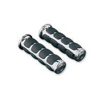 Universal Fit for Motorcycles with 1 Diameter Bars 1 Pair Chrome Kuryakyn 6240 Premium ISO Handlebar Grips for Throttle and Clutch