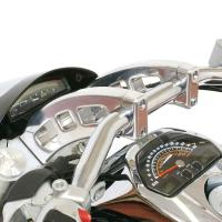 Rivco Chrome Handlebar Risers with Caps for Suzuki M109