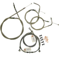 Baron Custom Accessories +15″-17″ Stainless Handlebar Cable and Line Kit