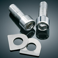 Kuryakyn Replacement Clevis Screws with D-Washer for Splined Adapter Mount