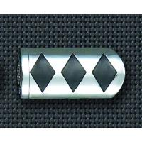 Show Chrome Accessories Diamond Style Footpegs for 1″ Case Guard