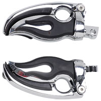 Kuryakyn Flamin' Switchblade Male Mount Footpegs