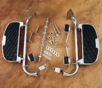Parts Unlimited Gold Wing Chrome Driver Floorboards