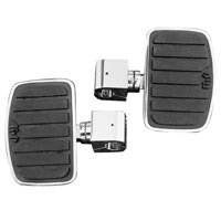 Show Chrome Accessories Floorboards with 1″ Clamps