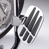 Show Chrome Accessories Vantage Passenger Board with 1-1/4″ Clamps