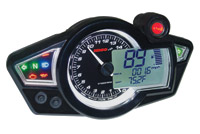 RX-1N GP-Style Black Speedometer with Black Body