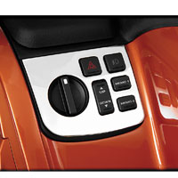 Show Chrome Accessories Left Side Control Panel Accent for GL1800 Gold Wing