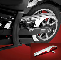 Show Chrome Accessories Drive Belt Cover for Yamaha V-Star 950/1300