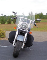 Desert Dawgs Highway Bar Rain Guards for Suzuki Intruder 1500/Boulevard C90