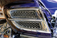 Add On Air Intake Grills with Mesh Inserts for GL1800 Gold Wing