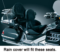 Kuryakyn Seat Base Rain Cover without Driver Backrest