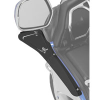 Show Chrome Accessories Upper Wind Deflector