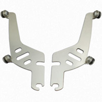 Memphis Shades Sportshield Polished Mounting Plates Only - Allen Key Mounting