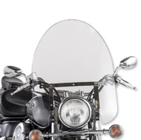 Slip Streamer SS-30 Classic Clear Windshield with Tapered Mounts