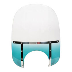 Memphis Shades Memphis Slims 17″ Tall Gradient Teal Windshield 9″ Headlight