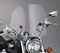 Slip Streamer 7/8″ & 1″ Clear Viper Handlebar Mount Windshield